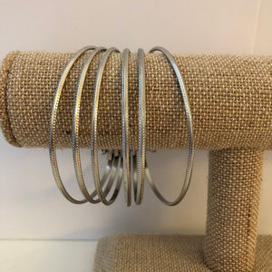 Jewelry - Silver Connected Bangle Cuff Bracelet
